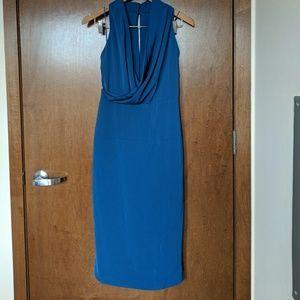 NWT Sexy Blue Halter Midi Dress